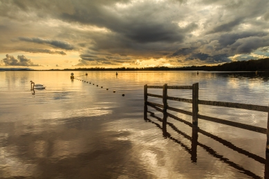 On the shores of Lough Erne at Muckross, Kesh, Co. Fermanagh at sunset.