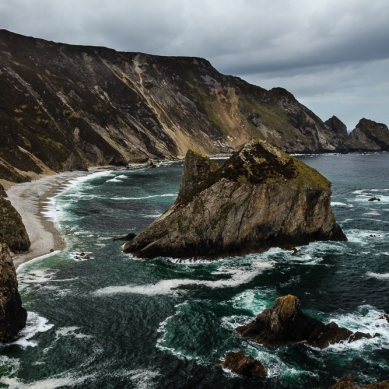 The remote and beautiful Glenlough Bay in Co. Donegal.