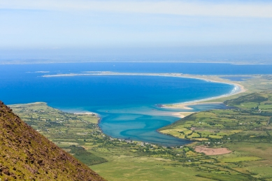 Stunning views over a sunny Co. Kerry while hill walking in the Brandon Group of mountains on the Dingle Peninsula.