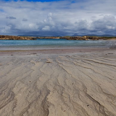 Patterns in the sand on Mullaghderg Beach in Co. Donegal.